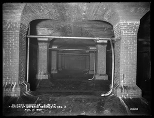 Clinton Sewerage, interior of covered reservoir, Section 2, Clinton, Mass., Aug. 31, 1899