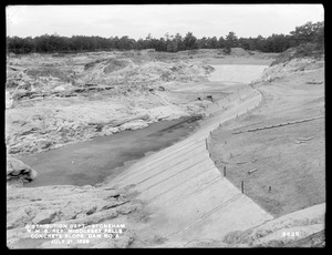 Distribution Department, Northern High Service Middlesex Fells Reservoir, concrete slope of Dam No. 4, from the southeast, Stoneham, Mass., Jul. 21, 1899