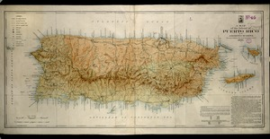 A map of the island of Puerto Rico