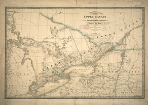 A map of the province of Upper Canada, describing all the new settlements, townships, & cc. with the countries adjacent, from Quebec to Lake Huron