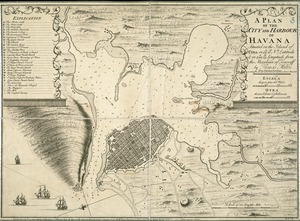 A plan of the city and harbour of Havanna situated on the island of Cuba