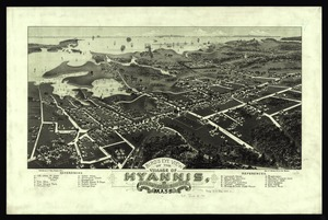 Bird's eye view of the village of Hyannis, Barnstable County, Mass