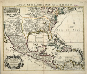 Carte du Mexique et de la Florida