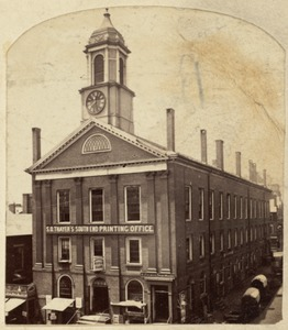 Boylston Market, corner of Boylston and Washington Sts. About 1870
