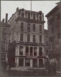 Boston, Massachusetts. Boston Advertiser building, James Franklin's printing office