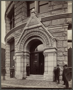 Boston, Massachusetts: Entrance to the Chamber of Commerce building