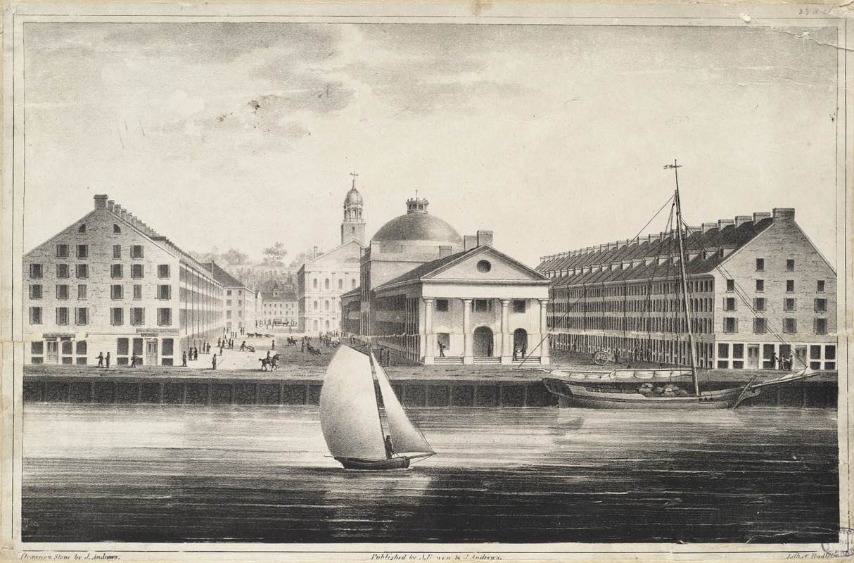 East view of Faneuil Hall market