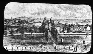 Bunker and Breed's Hills from the Navy Yard, about 1823