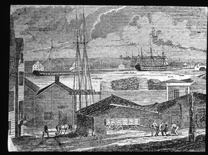 Charlestown Navy Yard in 1851