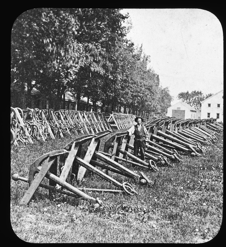 Rows of anchors in Charlestown Navy Yard