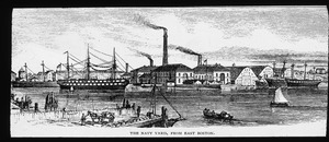 Navy Yard from North End of Boston about 1870