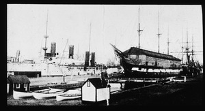 Warships and Old Ironsides in 1905