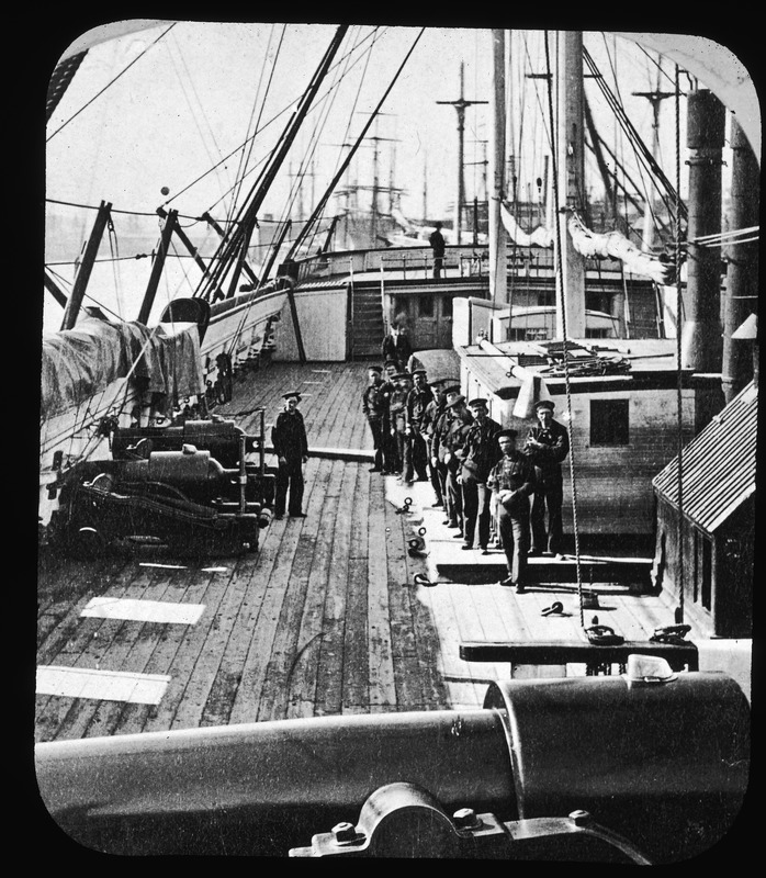 Deck of the U.S.S. Wabash, 1876-1912