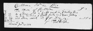 Bill for labor on Meeting House