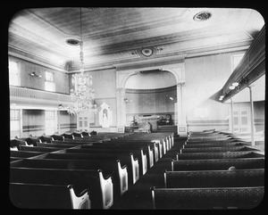 Interior of Harvard Church
