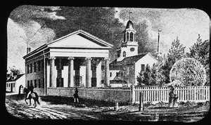 Charlestown Female Seminary and First Baptist Church, 1850