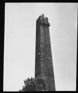 Beginning to steam-clean Bunker Hill Monument