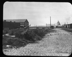 Railroad sidings and lane off Rutherford Avenue behind prison, 1939