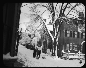 Getchell house in winter