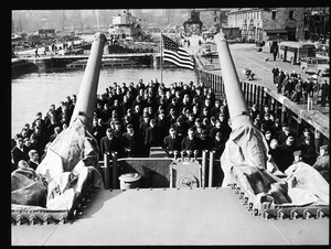 Invocation - commissioning of destroyer in 1944 in Charlestown Navy Yard.