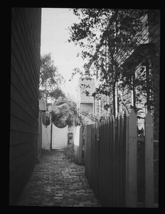 Alleyway to 16 1/2 Polk Street, gateway of Mr. Fitzgerald