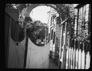 Gateway to 16 1/2 Polk Street, entrance to house of Mr. Fitzgerald