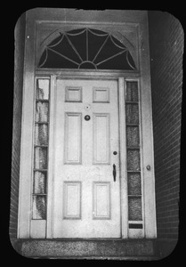 Doorway at 291 Bunker Hill Street, January, 1957