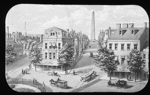 Artist's sketch of proposed avenue from city sq. to monument