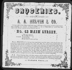 Advertising flier of Melvin and Co.