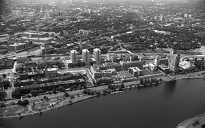 Boston University campus and Charles River, Charles River, Boston