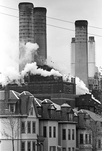 Homes and power plant, Southie, South Boston