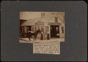 C.G. Taber horse shoeing and carriage smithing shop at Commercial and Water Streets, New Bedford, MA