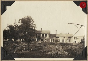 D.L. Chamberlin house after the fire- 1925