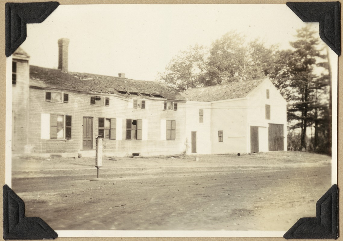 The Fletcher-Chamberlin house after the fire