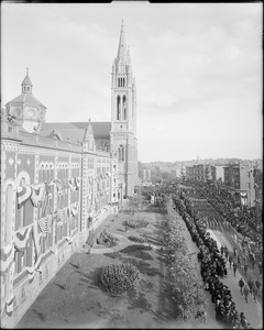 Young soldiers marching, Mission Church