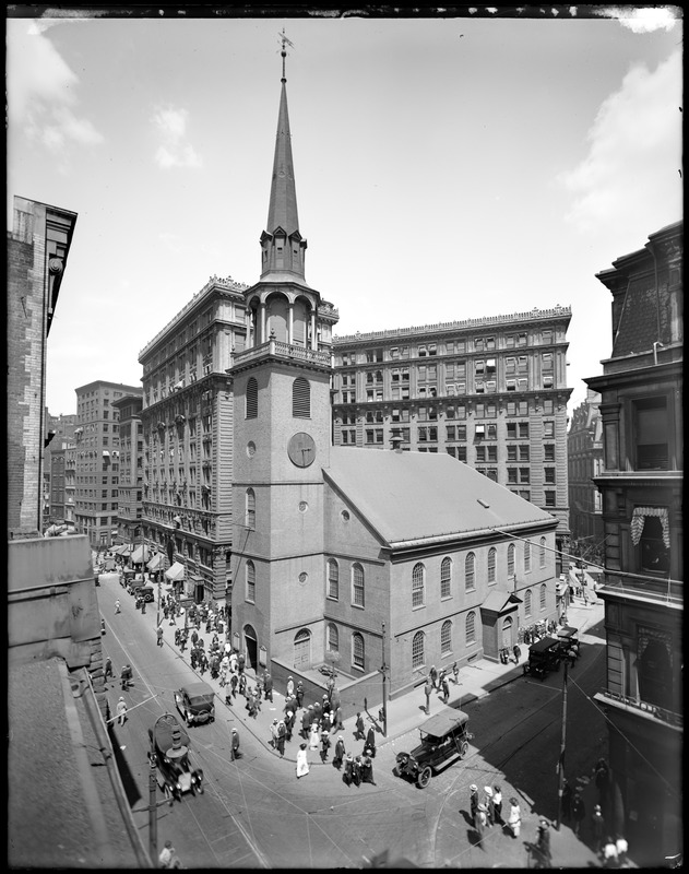 Old South Meeting House at Washington Street and Milk Street