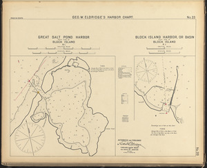Great Salt Pond Harbor, west side of Block Island, R.I. ; Block Island Harbor, or basin, east side of Block Island, R.I.