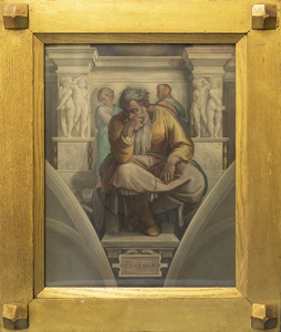 The prophet Jeremiah from Michelangelo's fresco on the Sistine Chapel