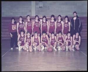 Photograph [realia], boys basketball (middle school)