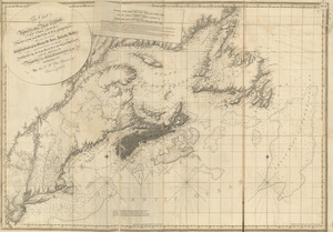 The coast of Nova Scotia, New England, New-York, Jersey, the Gulph and River of St. Lawrence : the islands of Newfoundland, Cape Breton, St. John, Antecosty, Sable, &c, and soundings thereof ...