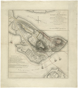 A plan of the action at Bunkers Hill, on the 17th. of June, 1775