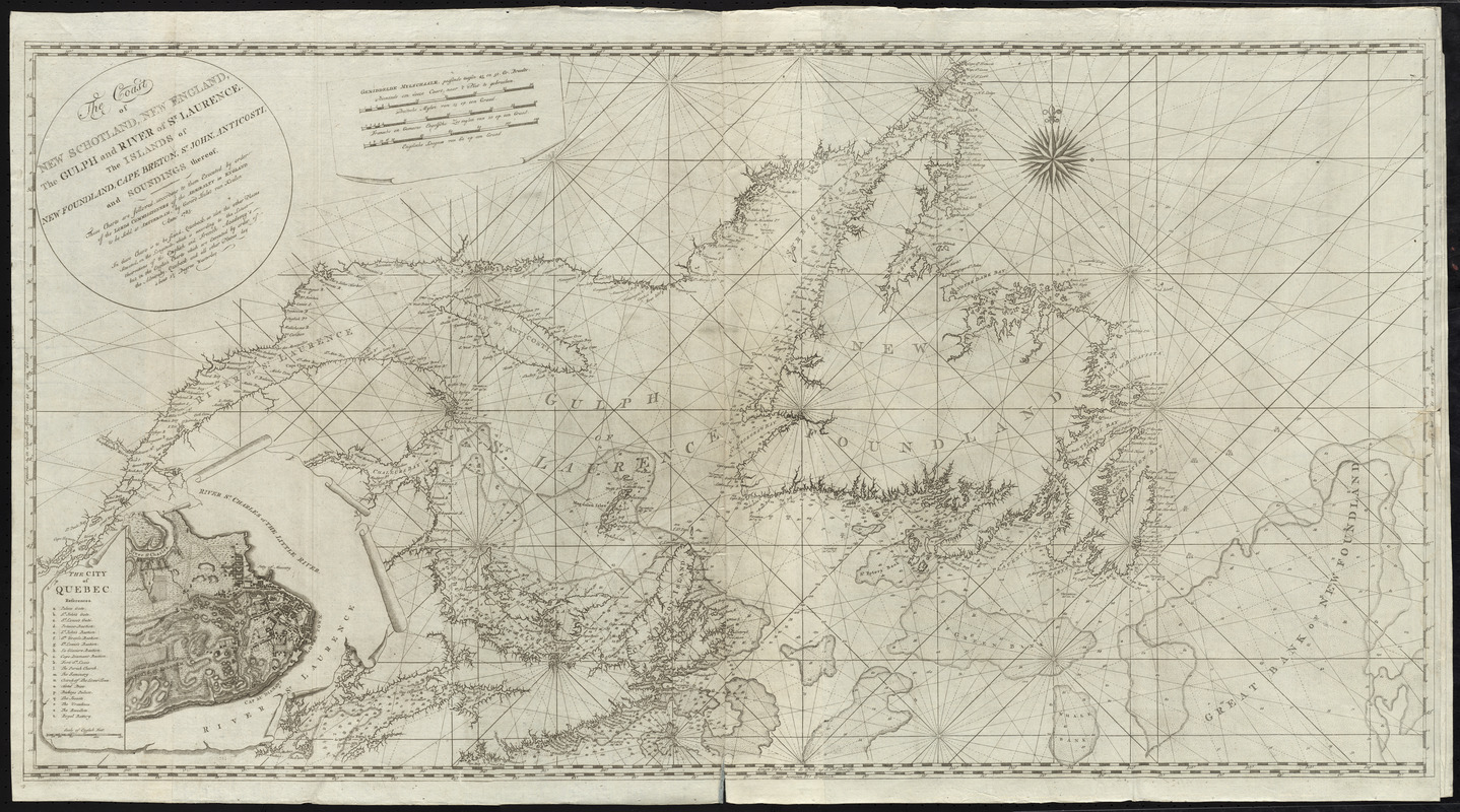 The coast of New Schotland, New England, the gulph and river of St. Laurence