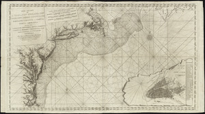 The coast of a part of New England, New York, New Jersey, Pensilvania, Maryland, Virginia, and part of North Carolina &c. with the banks, roks, soundings, shoals, currents, & nautical remarks, composed from a great number of actual surveys and other materials