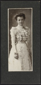 Newton High School Class of 1900 yearbook pictures plus reunion biographies, 1900 - - Alice Dempsey - Mrs. James Russell Putnam -