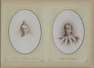 Newton High School, graduation 1895 & few 1896 - Carrie M. Buswell (Hollings) - Edith H. Moore (Naylor), Class of 1896 -