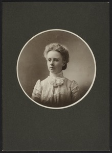 Newton High School Class of 1900 yearbook pictures plus reunion biographies, 1900 - - Anna M. Young -