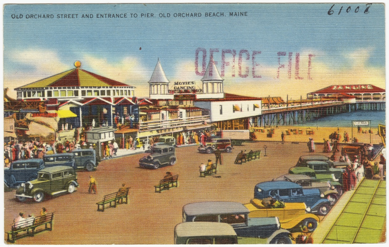 Old Orchard Street And Entrance To Pier Beach Maine