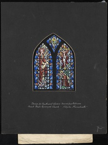 Design for southwest window second from entrance, Saint Paul's Episcopal Church, Holyoke, Massachusetts