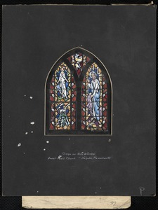 Design for aisle window, Saint Paul's Church, Holyoke, Massachusetts