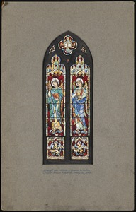 Design for right chancel window, Saint Paul's Church, Holyoke, Mass.